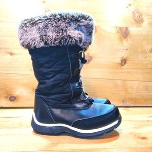 Lands' End Girls Snowflake Insulated Boots